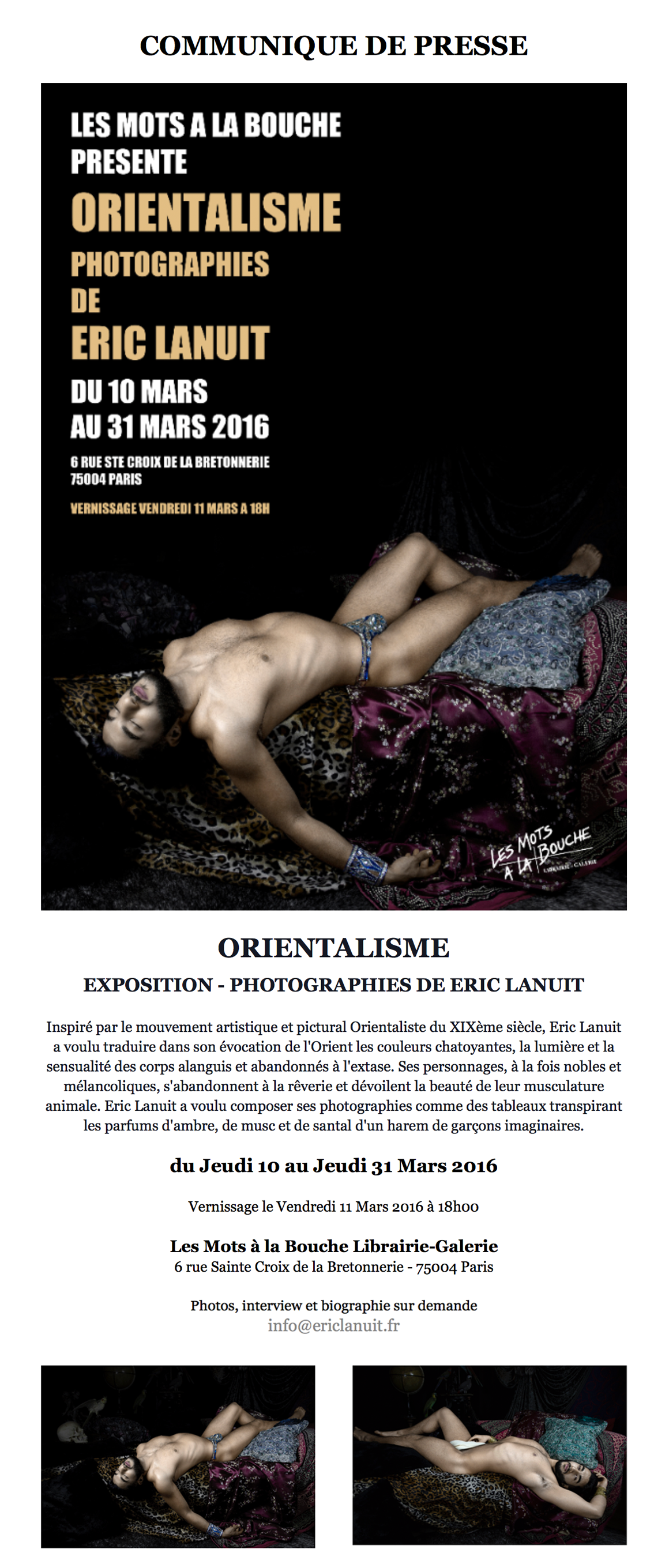 Orientalisme 2 by Eric Lanuit Exhibition
