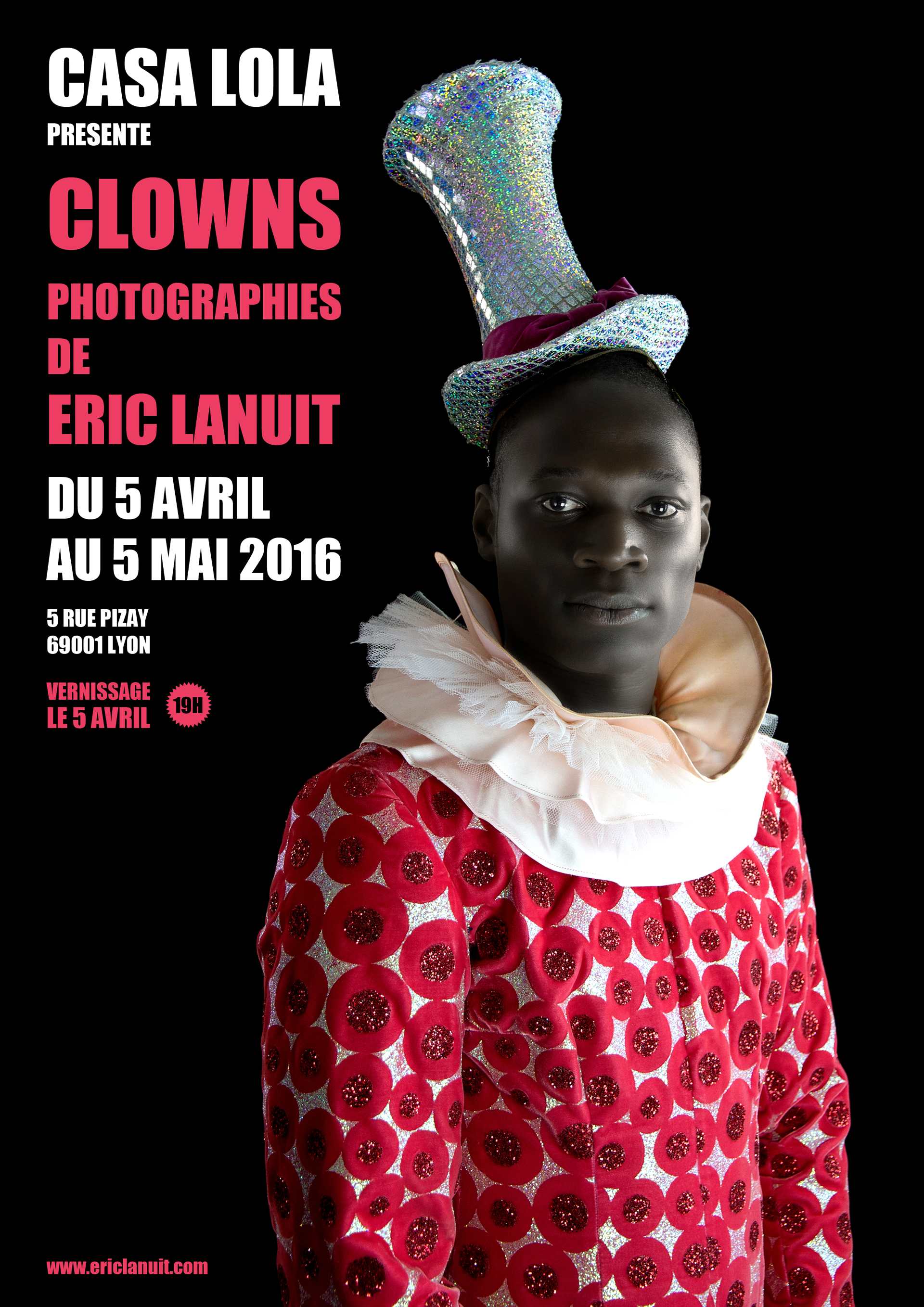 Clowns by Eric Lanuit Affiche Exposition A4