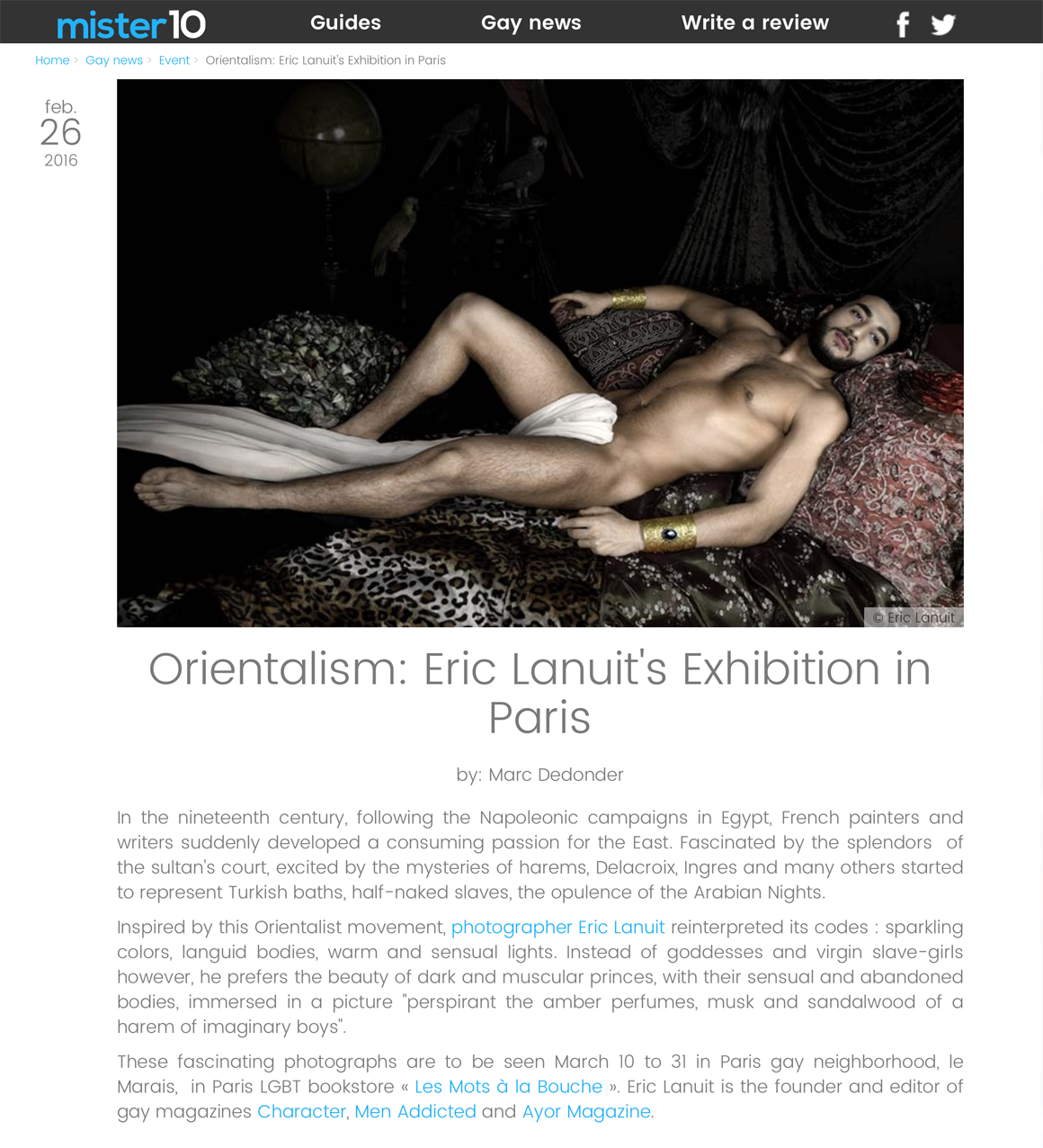 Mister10 2 Orientalisme by Eric Lanuit