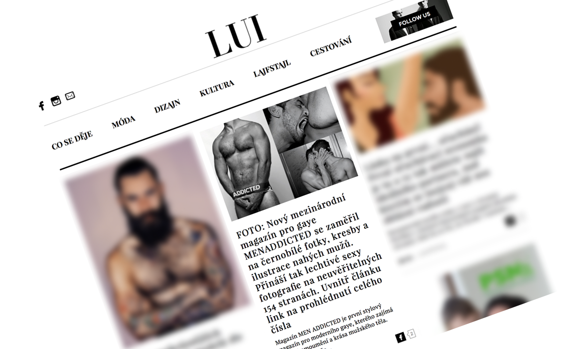 Men Addicted in Lui Magazine
