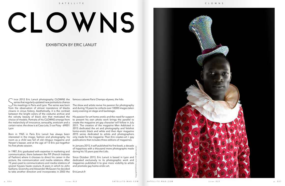 Sattelite Magazine Clowns by Eric Lanuit 2