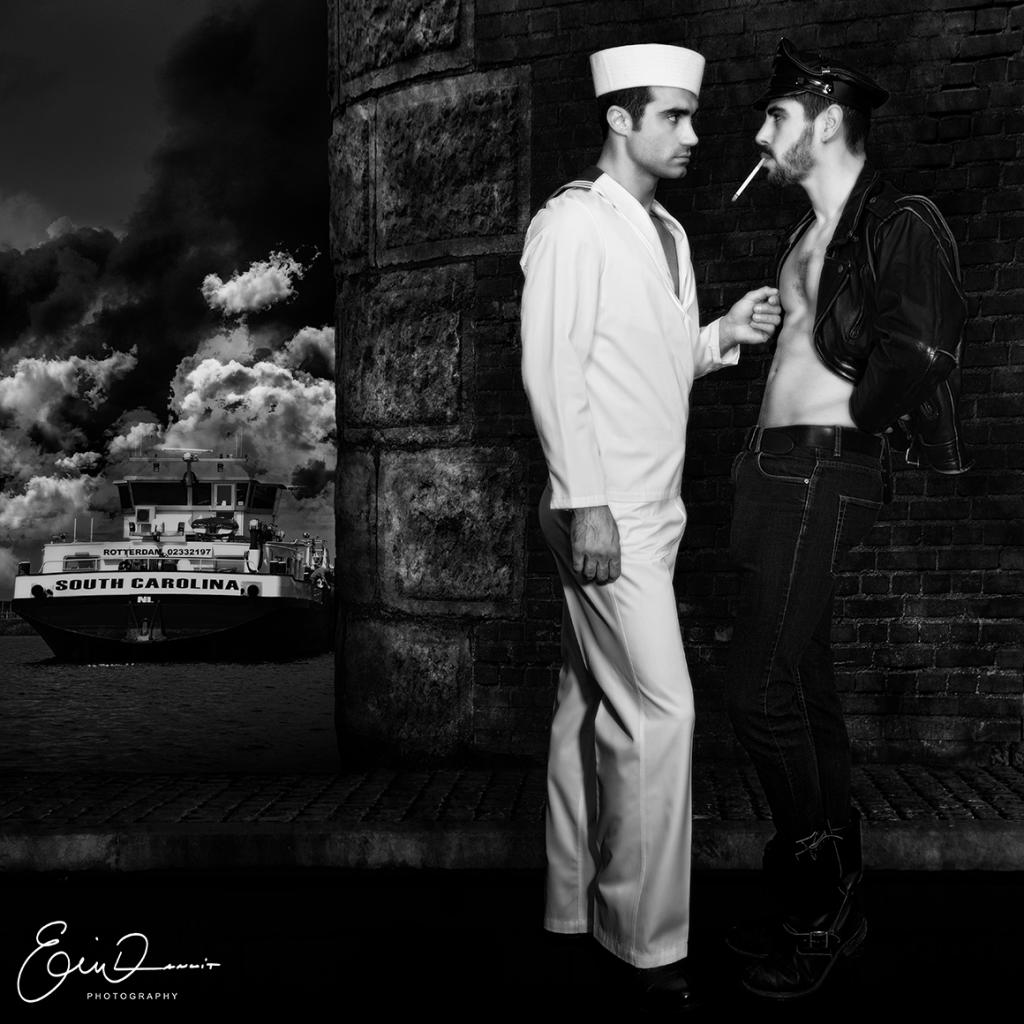 Jonathan et Valentin 2 by Eric Lanuit Hommage Tom of Finland Credit